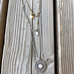 Nice Lucky Brand Mixed Media Layered Necklace!